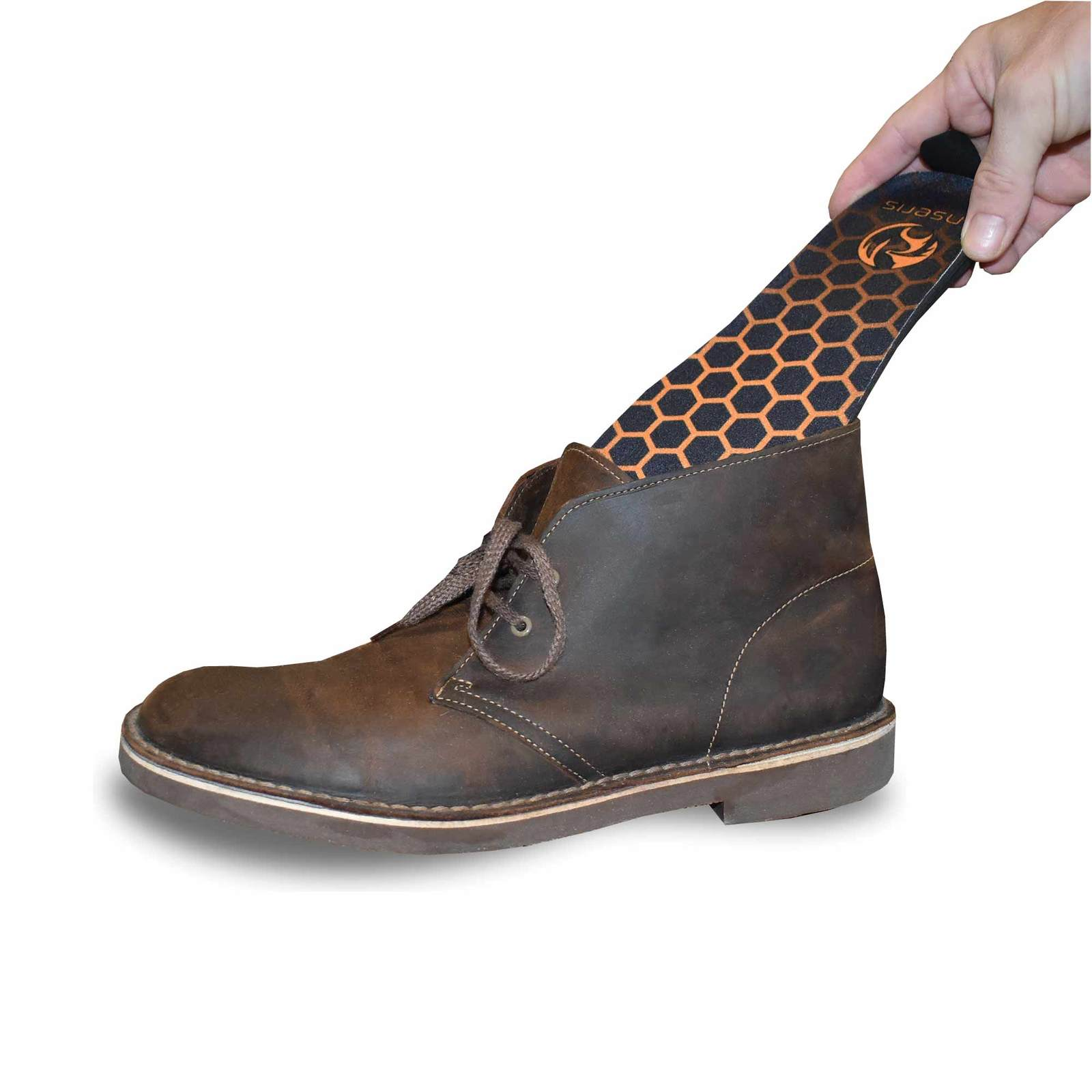 anseris rechargeable heated insoles fit any shoe or boot and are used to heat the foot with a remote control